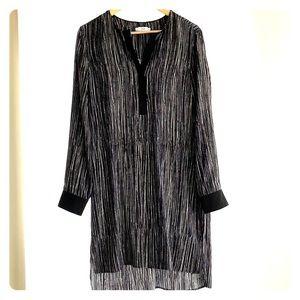 Vince Shift Dress. 100% Silk.